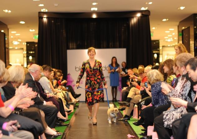 Both two-legged and four-legged models walked the runway at the second annual Critters for the Cure fashion show gala.