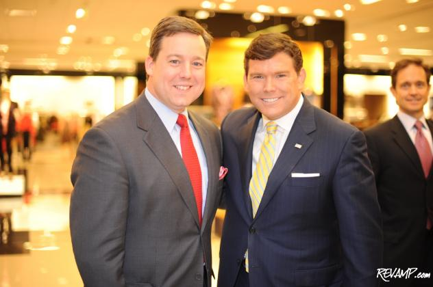 CNN senior White House correspondent Ed Henry and FOX News anchor Bret Baier were but two of the guests at last night's Bloomingdale's shopping soiree benefit.