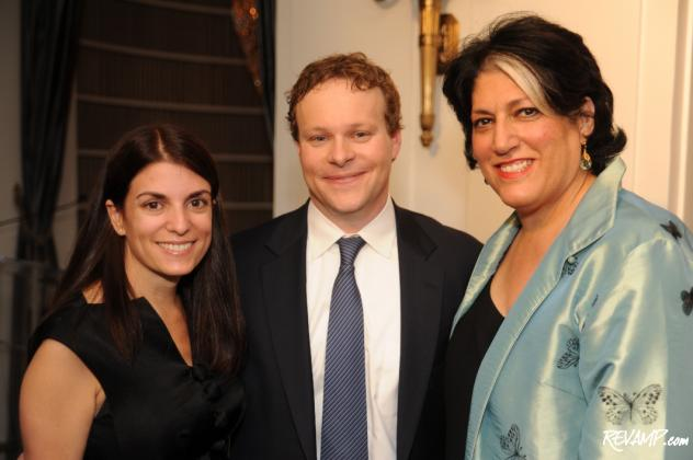 "(L-R) Jenny Licht, Chris Licht, and Tammy Haddad at the book party for ""What I Learned When I Almost Died""."