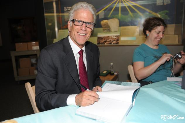 Actor and environmental activist Ted Danson stopped to sign books for fans after the evening's panel.