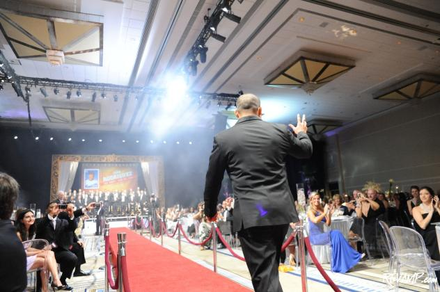Catcher Ivan Rodriguez walks the red carpet at Saturday's Dream Gala benefiting the Nationals Dream Foundation.