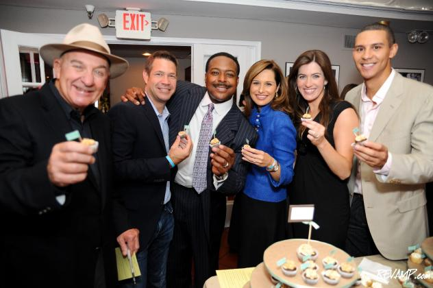 (L-R) Arch Campbell, Steve Chenevey, Leon Harris, Alison Starling, Natasha Barrett, and John Schriffen served as judges to the second annual Cupcakes & Cocktails benefit.  (Not pictured: Anita Brikman)