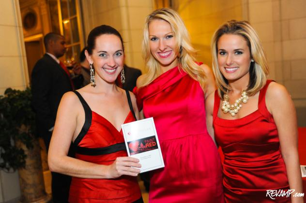 Paint The Town Red Host Committee Members Taryn Fielder and Cherie Short, with fellow PULSE supporter Alison Howard.