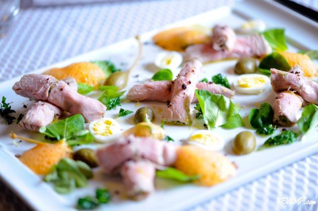 Chef Enzo Fargione's porcini dusted venison carpaccio.