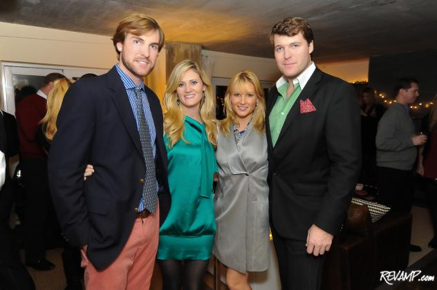 (L-R) 'Revel With A Cause' co-hosts Matt Allen, Adrienne Allen, Katherine Kennedy, and  Grant Allen.