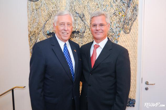Congressman Steny Hoyer and Danish Ambassador Peter Taksøe-Jensen were but two of the VIPs in attendance during last night's unveiling celebration.