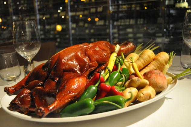 Chef Scott Drewno will prepare a traditional family-style holiday duck dinner for guests at The Source on Christmas Eve.  (Photo: Liz Libbrecht)