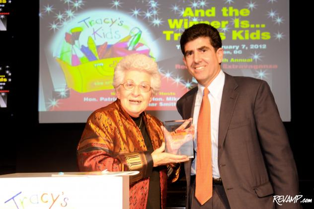 Tracy's Kids 2012 Courage Award Recipient Barbara Grassley and organization founder Matt Gerson.