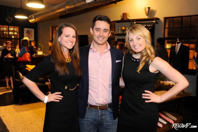 Evening co-hosts Allison Prescott and Lauren Pomponio flank Alton Lane co-founder Colin Hunter.