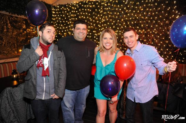 HOT 99.5's Samy K, Erick V., Sarah Fraser, and Rob Kruz.