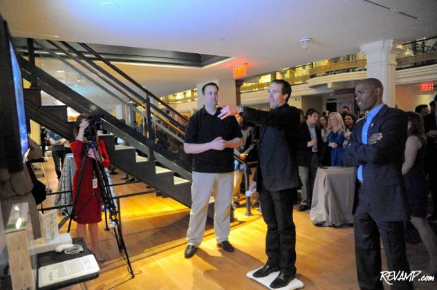 New Orleans Saints quarterback Drew Brees tries his hand at an active Nintendo Wii game.