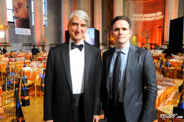 Refugees International Vice Chair Sam Waterston and Board Member Matt Dillon.