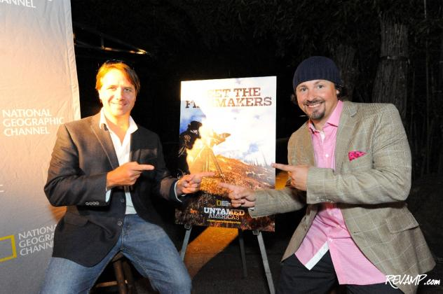 'Untamed Americas' filmmakers Andy Mitchell and Casey Anderson at the National Geographic Channel's world premiere party for the miniseries.