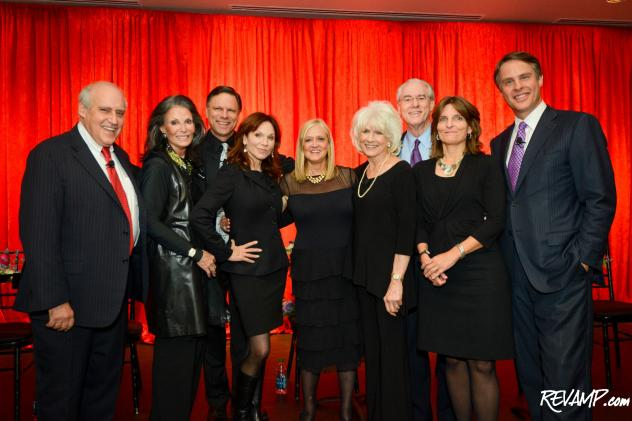 'Surviving Grace' playwright Trish Vradenburg and USAgainstAlzheimer's Network Chairman George Vradenburg are flanked by last night's venerable cast.