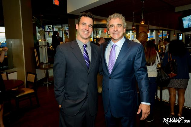 Dean Cibel and Nick Cibel at last night's grand re-opening party for Tony and Joe's and Nick's Riverside Grill.