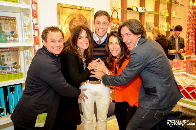 The hosts to yesterday's holiday party at Jonathan Adler's Georgetown store clearly took their duties very seriously.