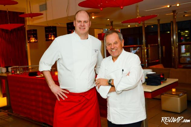 The Source's Regional Executive Chef Scott Drewno and Master Chef Wolfgang Puck.