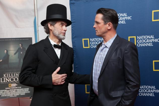 """President Lincoln, meet. uh, President Lincoln (actor Billy Campbell)."""