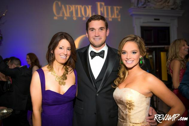 Capitol File Magazine President & Editor-in-Chief Sarah Schaffer with Ryan and Heather Zimmerman.
