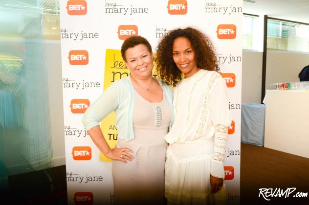 BET Networks Chairman and CEO Debra Lee and 'Being Mary Jane' Executive Producer Mara Brock Akil.