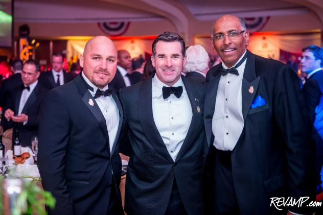 Under Armour Founder & CEO Kevin Plank (pictured center) served as this year's Fight Night event chair.