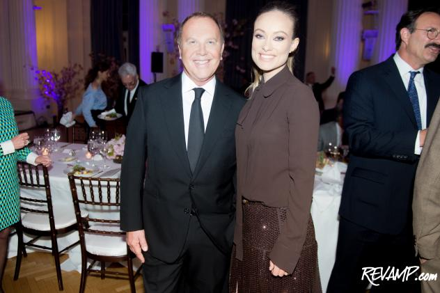Fashion designer Michael Kors and actress Olivia Wilde.