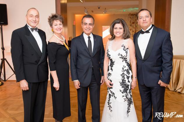 Architect Thomas Krähenbühl, Phillips Collection Director Dorothy Kosinski, Qatari Ambassador Mohammed Jaham Al-Kuwari, and gala co-hosts Kay and Sunny Kapoor.