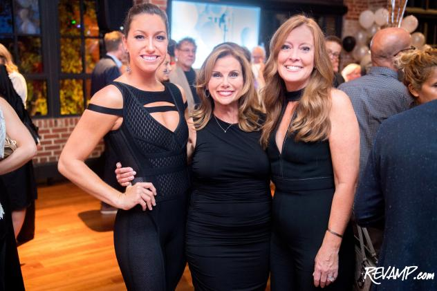 T-H-E Artist Agency Founder and President Lynda Erkiletian is flanked by Director and Vice President Elizabeth Centenari (right) and Head Booking Director Sondra Hoffman (left).