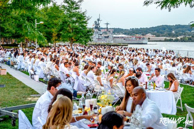 D.C. Finds Its White Night; Inaugural 'Diner En Blanc' Pops-Up At The Yards