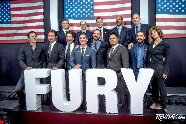 'Fury' World Premiere A Blockbuster Bash; VP Biden, Brad Pitt, Shia LaBeouf, Ovi, MOCs Pack Star-Studded Newseum Party