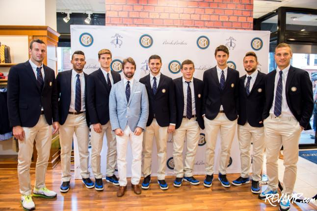 Soccer Suits Up At Brooks Brothers Georgetown; Inter Milan Players Score Points With D.C.'s Stylish