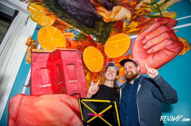Canvas & Cuisine Combine At Pinea's Art Intervention Party Inside W Washington, D.C. Hotel